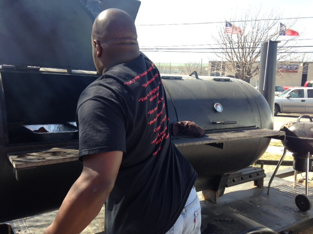 Last Supper BBQ - Pit Master Chris Salone hard at work!